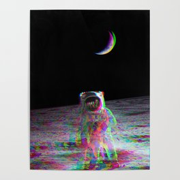 COLORFUL MOONS Poster