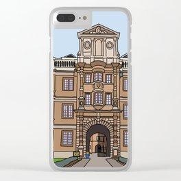 Cambridge struggles: Clare College Clear iPhone Case