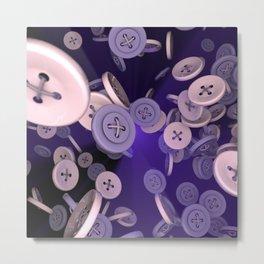 Raining Buttons Metal Print