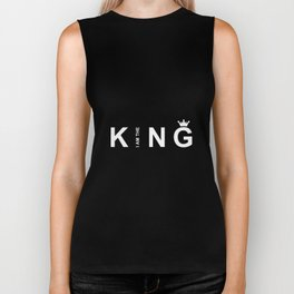 I Am The King #society6 #decor #buyart #artprint Biker Tank