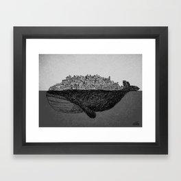 Whale City Framed Art Print