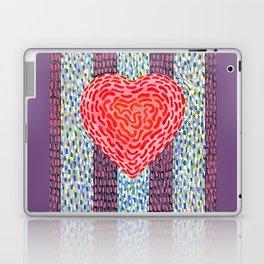 High Energy Squiggle Heart - Impressionist Heart Art Laptop & iPad Skin