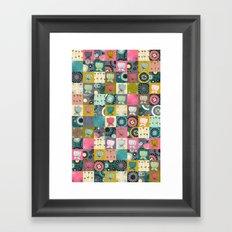 blooms patchwork Framed Art Print
