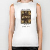 buffy the vampire slayer Biker Tanks featuring Vampyr Book -- Buffy the Vampire Slayer by BovaArt