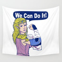 WE CAN DO IT! ( Zelda Style ) Wall Tapestry
