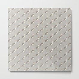 Brolga | Pattern Metal Print