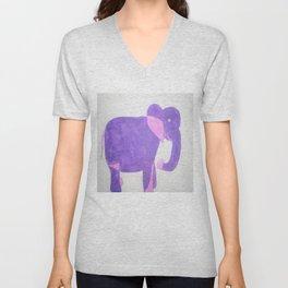 Purple Elephant Unisex V-Neck