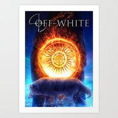 sun menhir - off-white Art Print