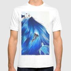 Mermaid MEDIUM White Mens Fitted Tee