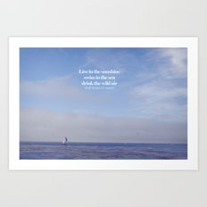 live, swim, drink Art Print