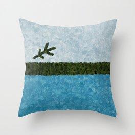 Painted Labrador Flag Throw Pillow