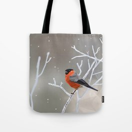 Safe transitions! // (polygonal bull-finch) Tote Bag