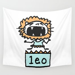 Rawwrrrr! says the Leo. Wall Tapestry