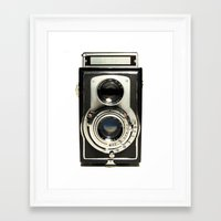 decal Framed Art Prints featuring Vintage Camera by Ewan Arnolda