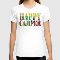 camp T-shirts featuring Camp Fire by Gréta Thórsdóttir