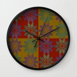Flower Pattern10 Wall Clock