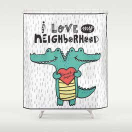 Swampy Heights Shower Curtain