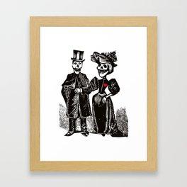 Calavera Couple Framed Art Print