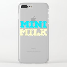 Stay cute and tiny but delicious with this bold tee design. Will absolutely make a perfect gift! Clear iPhone Case