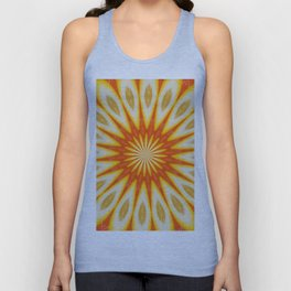 Simply Citrus  Lemon Slices and Blood Orange Unisex Tank Top