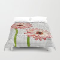 writing Duvet Covers featuring Old Writing by Susann Mielke
