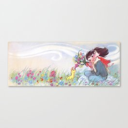 """Mom and Celeste // illustration from """"Once Upon A Cloud"""" Canvas Print"""