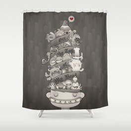 Off the Top of My Head Shower Curtain
