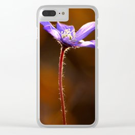 Solo Purple Anemone Forest #decor #society6 Clear iPhone Case