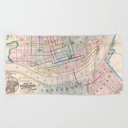 Vintage Map of Cincinnati OH (1868) Beach Towel