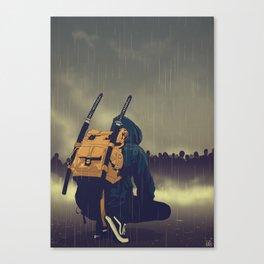 Dark days coming Canvas Print