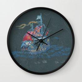 Sailing Ship VIII Wall Clock