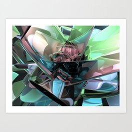 Colorful 3D Reflections Art Print