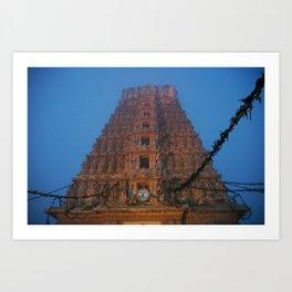 Early Morning Hindu Temple (Mysore & India & Travel) Art Print