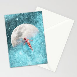 FLOATING TO THE MOON Stationery Cards