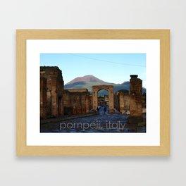 pompeii, italy Framed Art Print