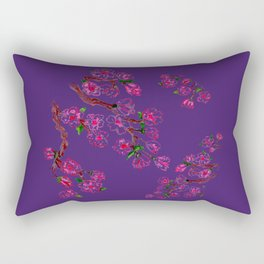 Sakura Branch Painting Rectangular Pillow