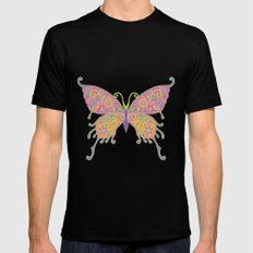Butterflies Are Free To Fly... MEDIUM Mens Fitted Tee Black