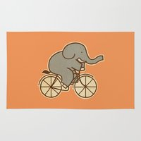 cycle Area & Throw Rugs featuring Elephant Cycle by Terry Fan