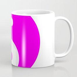 Yin & Yang (Magenta & White) Coffee Mug