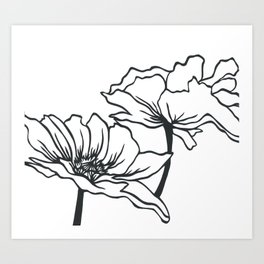 Paper-cut Poppy Art Print