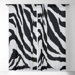 ZEBRA STRIPE PATTERN BLACK & WHITE Blackout Curtain