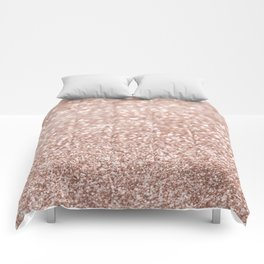 Sparkling Rose Gold Blush Glitter #2 #shiny #decor #art #society6 Comforters