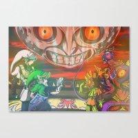 majoras mask Canvas Prints featuring Legend of Zelda Majoras Mask by LuisIPT