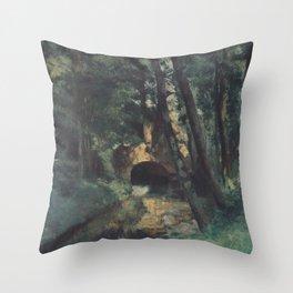 Camille Pissarro - The Small Brigde, Pontoise Throw Pillow