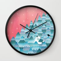outdoor Wall Clocks featuring Tree Hugger by littleclyde