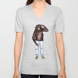 monkey dude Unisex V-Neck