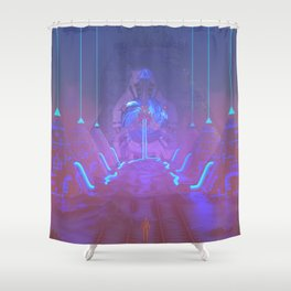 Lost Astronaut Series #05 - Star Harvester Shower Curtain