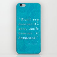 dr seuss iPhone & iPod Skins featuring Quote / Dr. Seuss by Justified