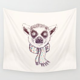 Lemur and scarf Wall Tapestry