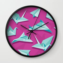 planes and cranes Wall Clock